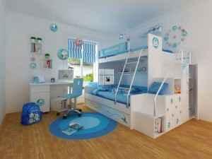 儿童双人床图片