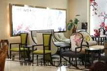 厂家供应 现代简约款式 酒店椅 清新中国风