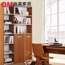 曲美家具家居 木质环保储物柜 现代简约书架 书柜 收纳柜 玻璃门