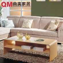 曲美家具 简约茶几边几 实木弯曲 客厅1.2米茶桌2005TT6-2