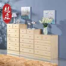 龙森 现代简约田园全实木斗柜储物柜组合实木五六七斗柜卧室家具