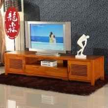 龙森家具 现代水曲柳电视柜 全实木电视柜地柜储物柜2米客厅柜