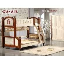 【合和木缘】地中海儿童家具胡桃木松木家具GY-D1502
