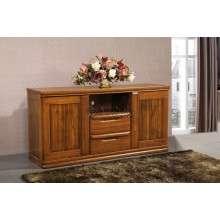 现代简约电视柜 胡桃木地柜 1.5电视柜高柜 卧室家具