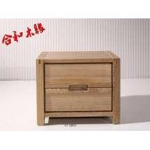【合和木缘】北欧简约俄罗斯水曲柳实木床头柜GY-QB03