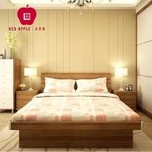 红苹果家具简约1.5米1.8米气压高箱多功能储物板式双人床R8302-23