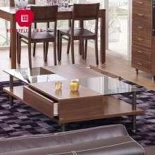 红苹果家具简约现代 时尚客厅玻璃方形角边创意餐桌茶几R192-47