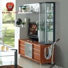 红苹果家具简约现代 多功能简易地柜小电视柜玻璃移门组合R083-60