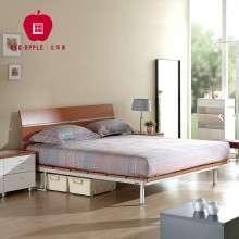 红苹果家具 时尚现代简约 1.5/1.8米双人板式铁架床 R807-B