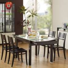 红苹果家具时尚简约现代钢化玻璃 可伸缩 餐桌台饭桌几R211-32