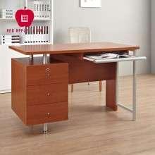 红苹果家具 简约现代 简易写字台 简约带柜子电脑书桌 R730T-1.2