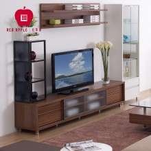 红苹果家具现代简约时尚储物地柜玻璃电视柜组合电视墙R082-88