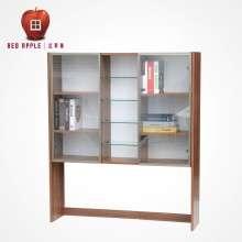 红苹果家具 简约现代多功能简易储物书柜 书架 玻璃门 R730S-1.2