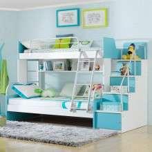 多喜爱儿童家具 儿童彩板高低床上下铺双层子母床 带护栏男女孩床
