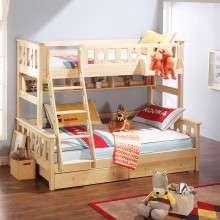 多喜爱儿童家具 进口芬兰松实木高低床上下铺双层子母床男女孩床