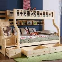 多喜爱儿童家具实木高低床 上下铺双层床子母床 进口芬兰松木床