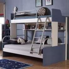 多喜爱儿童家具 牛仔系列高低床上下铺双层子母床 男孩女孩床