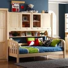 多喜爱儿童家具 松木儿童多功能组合半高床 带衣柜储物男孩女孩床