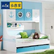 多喜爱儿童家具 多功能床组合床 衣柜床男孩1.2米储物床男女套房