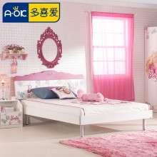 多喜爱儿童家具 时尚芭比系列单双床 1.2米1.5米儿童床