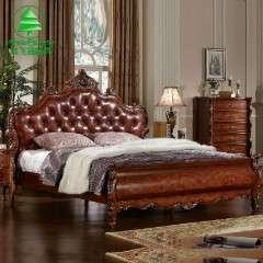 风飞扬家具欧式床 美式 实木 1.8 1.5米双人床 特价复古 家具批发