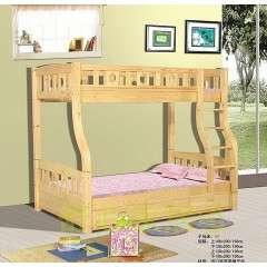 松木床全实木床1.8儿童1.2米书架简约家具高箱储物单人双人床1.5