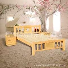 厂家生产高档实木床 简约现代双人床 简易实木床 来样定制