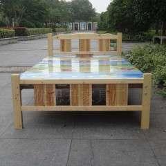 实木床1.5米学生木头床宿舍床1.2/1米员工单位用松木床单人床