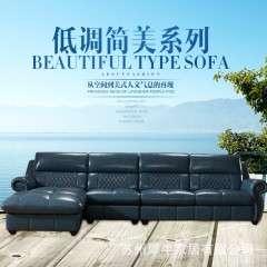 新款美式真皮沙发 休闲客厅沙发 美式乡村转角沙发可定制颜色尺寸