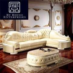 新款欧式转角沙发 小户型客厅沙发 简欧转角沙发工厂直销可定制
