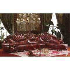欧式真皮沙发 大款厚皮沙发 客厅休闲贵妃沙发可定制