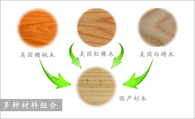 衣柜木材组合