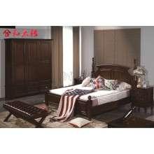 【合和木缘】美式家具工厂直销双人床GY-W707