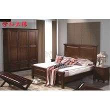 【合和木缘】美式家具工厂直销双人床GY-W607