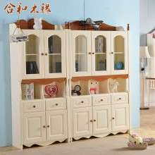 【合和木缘】地中海松木家具全实木书柜GY-SH612