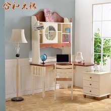 【合和木缘】地中海全松木家具书桌柜GY-SG603