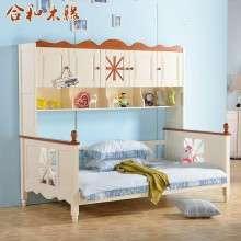 【合和木缘】地中海全松木家具子母床上下床GY-SA205