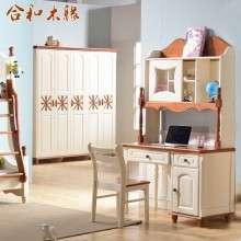 【合和木缘】地中海全松木家具书桌柜GY-SG602