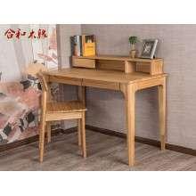 木蜡油系列白橡木家具工厂直销合和木缘书桌GY-BX04