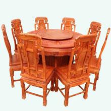 东阳厂家直销圆台 红木餐台 古典家具 仿古家具
