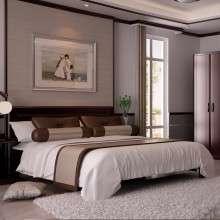 双叶家具全实木双人床水曲柳新中式床卧室家具婚床1.5米1.8米