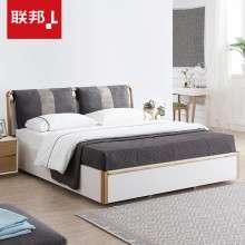 联邦家具北欧风格实木床主卧1.8米1.5双人床储物高箱现代简约大床