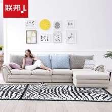 联邦家具北欧现代客厅小户型皮布艺沙发经济型拐角组合整装软沙发