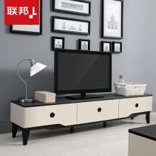 联邦家具简约现代火烧石电视柜桌黑白色储物客厅矮柜子整体DS606