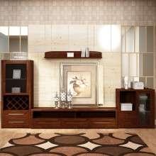华日家具 胡桃楸木组合电视柜 实木客厅柜储物收纳柜 客厅家具
