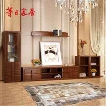 华日家具 胡桃楸木实木电视柜客厅柜 实木储物柜电视柜 现代中式H3