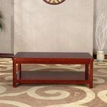 华日家具 栗色 现代中式家具实木双层茶几 长几 特价实木家具L9