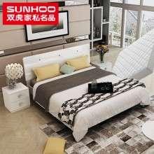 双虎家私简约现代板式双人床1.5米1.8米大床婚床卧室家具套装b1