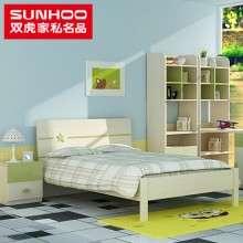 双虎家私简约现代青年床男女孩1.2米1.5米单双人床卧室家具13R2