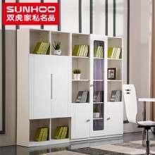 双虎家私烤漆储物书柜书架2-3-5门书房组合简约现代卧室家具B1